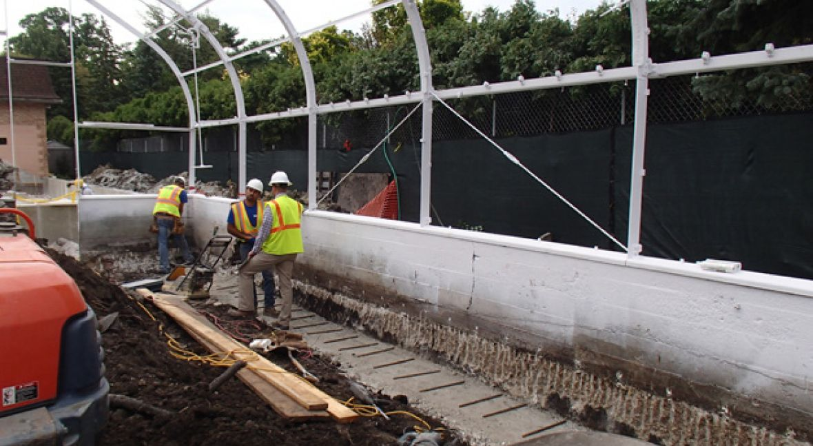 Wilder Park Conservatory & Greenhouse Restoration - Conservatory Project Powers Up