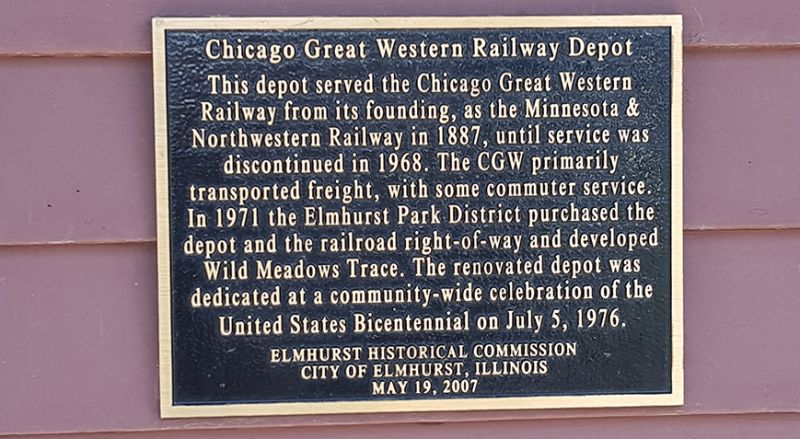 Depot dedication plaque