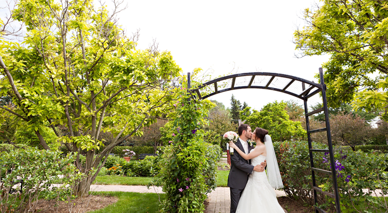 Wilder Park Formal Wedding Garden Elmhurst Park District